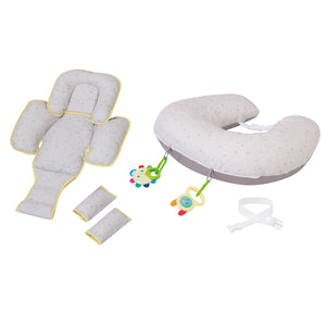 [Clevamama] ClevaCushion Nursing Pillow & Baby Nest - Not Too Big (Grey)