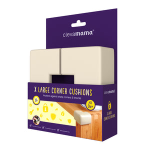 [Clevamama] X-Large Corner Cushions (4PK) - Not Too Big (Packaging)