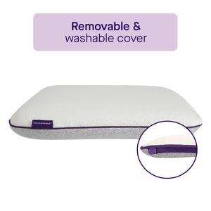 clevafoam junior pillow with removable and washable cover