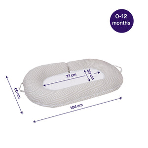 [Clevamama] Mum2Me Maternity Pillow & Sleep Pod - Not Too Big (Dimensions)