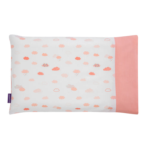 [Clevamama] Clevafoam Baby Pillow Case - Not Too Big (Coral)
