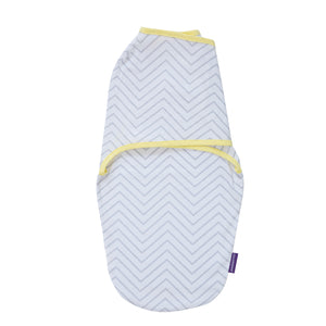 [Clevamama] Clevamama Swaddle to Sleep (0-3 months) - Not Too Big (Yellow/Grey)