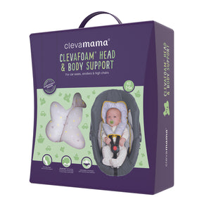 [Clevamama] ClevaFoam Head & Body Support - Grey/Yellow - Not Too Big (Packaging)