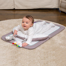 Load image into Gallery viewer, Playtime with the [Clevamama] Newborn Tummy Time Mat - Not Too Big