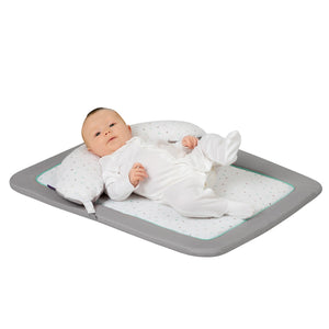 Baby moving in the [Clevamama] Newborn Tummy Time Mat - Not Too Big