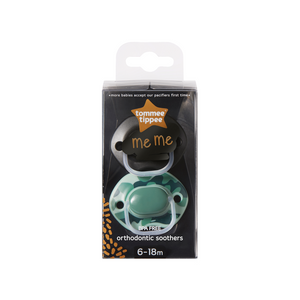 [Tommee Tippee] Closer to Nature Meme Soother 6-18 months (Green) - Not Too Big (Packaging)