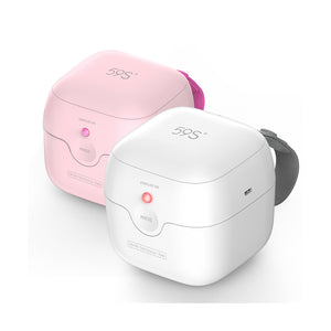 Mini UV sterilizer box 59s in pink and white at Not Too Big Online Store