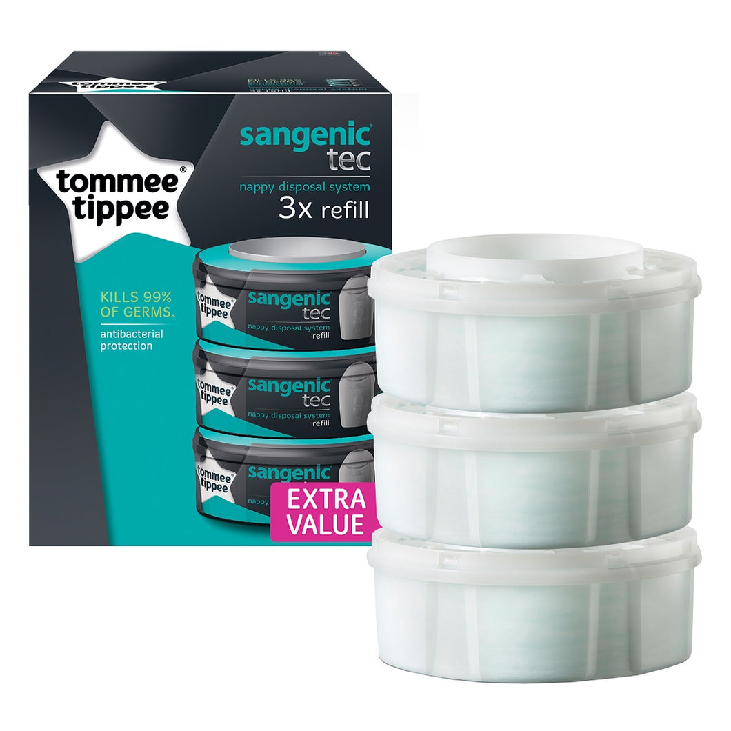 [Tommee Tippee] Sangenic Cassette - Not Too Big (Packaging and Content)