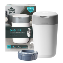 Load image into Gallery viewer, [Tommee Tippee] Twist & Click Nappy Disposal Bin - Not Too Big (White Packaging)