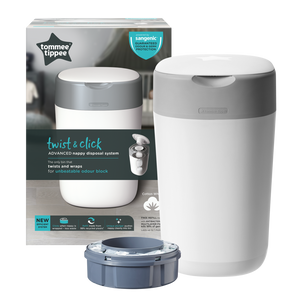 [Tommee Tippee] Twist & Click Nappy Disposal Bin - Not Too Big (White Packaging)