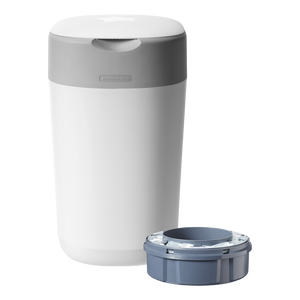 [Tommee Tippee] Twist & Click Nappy Disposal Bin - Not Too Big (White with Sangenic Cassette)