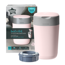 Load image into Gallery viewer, [Tommee Tippee] Twist & Click Nappy Disposal Bin - Not Too Big (Pink Packaging)
