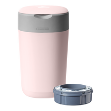 Load image into Gallery viewer, [Tommee Tippee] Twist & Click Nappy Disposal Bin - Not Too Big (Pink with Sangenic Cassette)