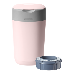 [Tommee Tippee] Twist & Click Nappy Disposal Bin - Not Too Big (Pink with Sangenic Cassette)