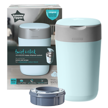 Load image into Gallery viewer, [Tommee Tippee] Twist & Click Nappy Disposal Bin - Not Too Big (Blue Packaging)