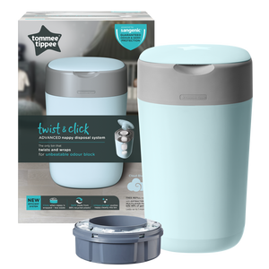 [Tommee Tippee] Twist & Click Nappy Disposal Bin - Not Too Big (Blue Packaging)