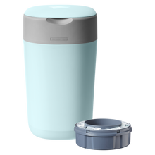 Load image into Gallery viewer, [Tommee Tippee] Twist & Click Nappy Disposal Bin - Not Too Big (Blue with Sangenic Cassette)