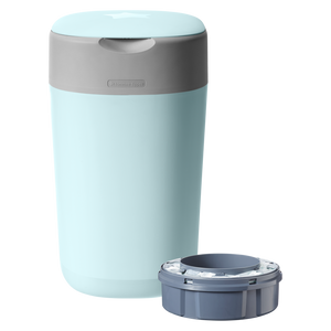 [Tommee Tippee] Twist & Click Nappy Disposal Bin - Not Too Big (Blue with Sangenic Cassette)
