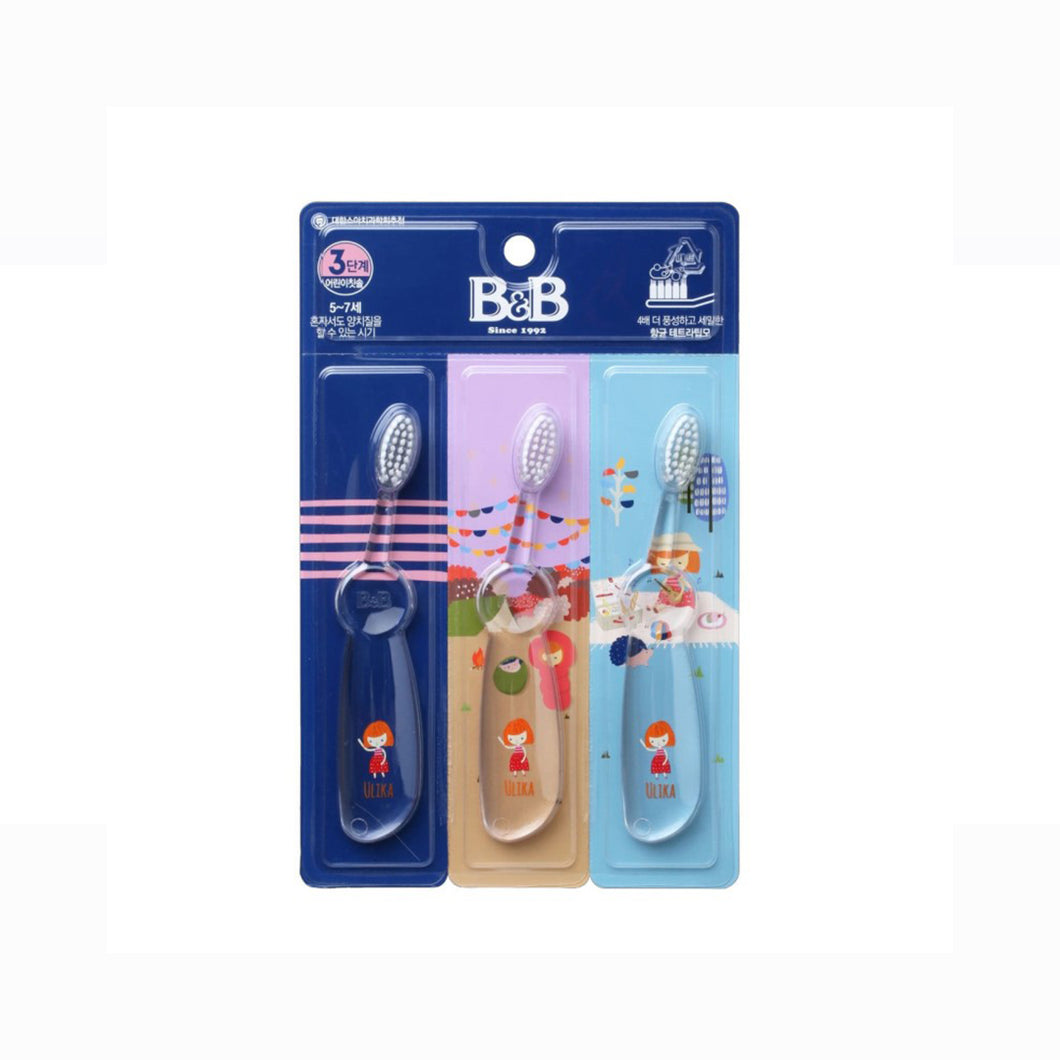 [B&B] Muaa Toothbrush For Kids Step 3 (3pcs)