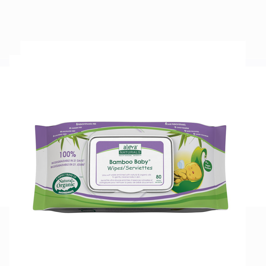 [Aleva Naturals] Bamboo Baby Wipes (Travel Size) - 30PK - Not Too Big