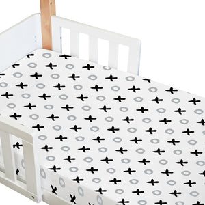 Babyhood amani Fitted Sheet for baby cot bed with tic tac toe design