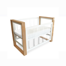 Load image into Gallery viewer, Babyhood bella baby cot in bassinet level with dropside down
