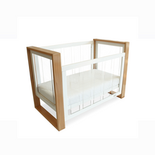 Load image into Gallery viewer, Babyhood bella baby cot used in cot level with dropside down