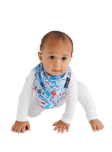 Load image into Gallery viewer, Baby wearing the Boy Print [Mum2Mum] Fashion Bandana - Not Too Big