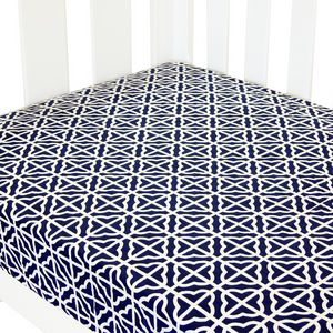 Babyhood cot bed fitted sheet monochrome design