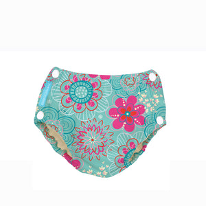 [Charlie Banana] Swim Diapers & Training Pants - Not Too Big (Large Floriana with Snaps)
