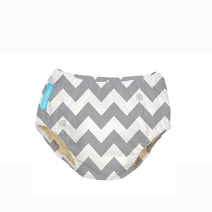 [Charlie Banana] Swim Diapers & Training Pants - Not Too Big (Small Size Grey Chevron)