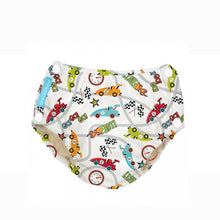 Load image into Gallery viewer, [Charlie Banana] Swim Diaper & Training Pants - Not Too Big (Race Cars with Snaps)