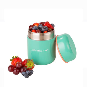 [Clevamama] 8 Hour Food Flask with fruits - Not Too Big
