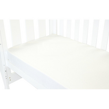 Load image into Gallery viewer, Babyhood White Fitted Sheet for baby cot