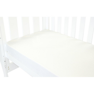 Babyhood White Fitted Sheet for baby cot