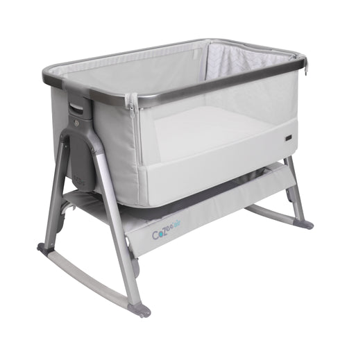 [Tutti Bambini] Cozee Air Bedside Crib - Not Too Big (Grey Slate with Rocking Bar)