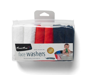 [Mum2Mum] Face Washers Flag 6 Pack - Not Too Big