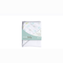 Load image into Gallery viewer, [Aden + Anais] Ideal Baby Hooded Towel - Not Too Big (White and Grey)