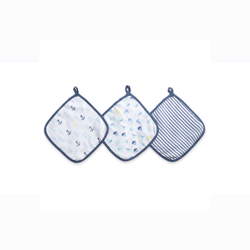 [Aden + Anais] Ideal Baby Washcloth - Not Too Big (Set Sail)
