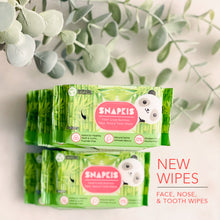 Load image into Gallery viewer, [Snapkis] Bamboo Face Tooth  & Nose  Wipes (3pcs)