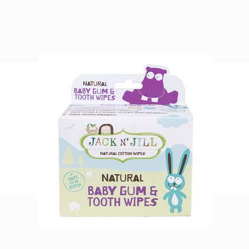 [Jack N' Jill] Natural Baby Gum & Tooth Wipes - Not Too Big