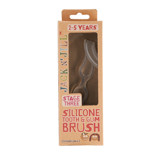 [Jack N' Jill] Silicone Tooth & Gum Brush - Stage 3 (2-5 years) - Not Too Big