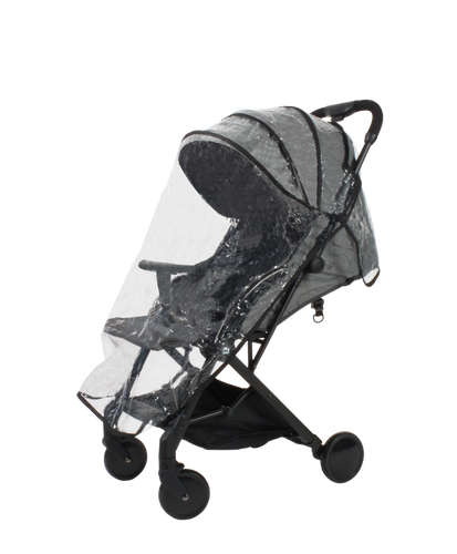 [Mimosa] Grey Stroller Rain Cover - Not Too Big