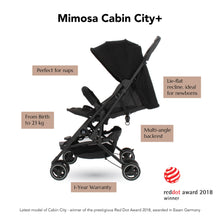 Load image into Gallery viewer, [Mimosa] Cabin City+ Baby Stroller - Not Too Big (Jet Black) Product Highlights