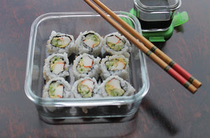 Sushi in our [Weangreen] Meal Cubes Single - Not Too Big