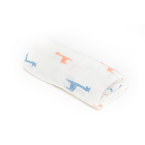 [Mimosa] Multi-Purpose Bamboo Muslin Swaddle - Not Too Big (Floral)