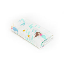 Load image into Gallery viewer, [Mimosa] Multi-Purpose Bamboo Muslin Swaddle - Not Too Big (Mermaid)