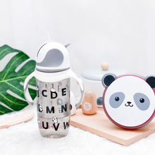 Load image into Gallery viewer, [Snapkis] Premium Anti-Colic Straw Bottle (300ml) - Panda - Not Too Big