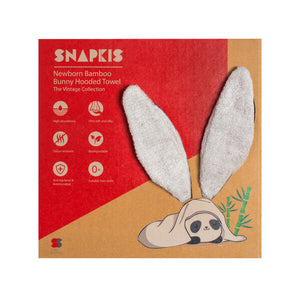 [Snapkis] Baby Bamboo Bunny Hooded Towel - Not Too Big