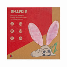 Load image into Gallery viewer, [Snapkis] Baby Bamboo Bunny Hooded Towel - Not Too Big